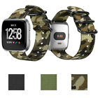 Double Layer Band for Fitbit Versa Soft Woven Nylon Replacement Women/Men Strap image