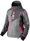 FXR WOMENS RENEGADE Grey/Charcoal/Fuchsia SNOW JACKET PARKA  -  Size 16  -  NEW