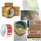 Packaging Tape Strong and Robust Quality Brown, Clear & Fragile 48mm x 92-Meters