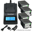 Kastar Battery LCD Fast Charger for Canon BP-820 BP-828 Canon XA25 Video Camera