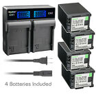 Kastar Battery LCD Rapid Charger for Canon BP-820 BP-828 Canon XA15 Video Camera