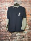 US Polo T short young 10/12 long sleeves Navy blue