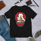 Cute Japanese Ramen Noodles Gift Kawaii Anime Cat Short-Sleeve Unisex T-Shirt