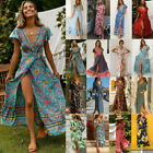 Внешний вид - Women Summer Boho Long Maxi Dress Evening Cocktail Party Beach Dresses Sundress