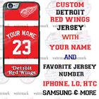 CUSTOMIZE DETROIT RED WINGS PHONE CASE COVER FITS iPHONE SAMSUNG etc $18.98 USD on eBay