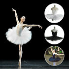 White Dance Fairy Ballet Dress Ladies Girls Practise Pancake Tutu Dancewear