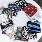 Women Bandana Hair Tie Square Satin Scarf Head Neck Scarf Band Wrap Handkerchief