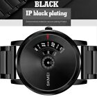 SKMEI Mens Ultra Thin Stainless Steel Waterproof Analog Dress Quartz Wrist Watch image