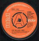 """PERRY COMO For The Good Times 7"""" VINYL UK Rca 1973 Demo Copy B/W Sing (Rca2402)"""