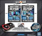Smartphone Cell Tablet REPAIR JAILBREAK window sign poster banner iphone android
