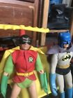 Mego Removable Mask Batman And Robin . Bat Cycle ,Copter, Batmoblie