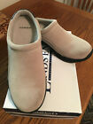 LANDS END BEIGE SUEDE LEATHER MULES - NIB