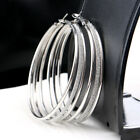 925 Silver Hoop Earrings Large Big Hoops Stud Earring Women Ladies Jewellery