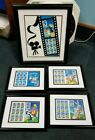 5 Framed 1997-2000 Looney Tunes US Postage Stamp Sheets Bugs Tweety Daffy