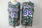 New Los Angeles Lakers #32 Earvin Johnson Retro Basketball Jersey camouflage on eBay
