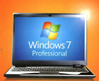 Windows 7 Professional 64/32 Bit Full Version SP1 Disc, COA & Pro DVD Key Hdwr