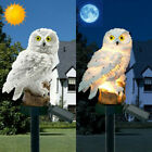 Solar Garden Lights Owl Ornament Animal Bird Outdoor LED Decor Sculpture Novelty