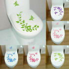 Funny Novelty Butterfly&flower Toilet Sticker On The Wall Home Decoration