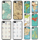Travel in the world map Plane plans Soft Black Case for iphone XS Max XR X 8 7 6
