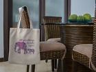 All Good Things Are Wild and Free - Mother & Baby Elephant Tote Bag