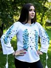 Romanian Traditional Blouse Embroidered Womens Shirt Black Ie National Coustume