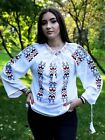 Romanian Shirt  Blouse Ethnic Embroidered IeTraditional Top Women Costume