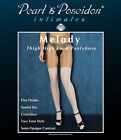 """Melody"" thigh high look pantyhose two tone crotchless sheer / opaque nylons"