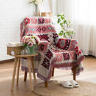 Double Sided Blanket Fringed Sofa Towel Throws Slip Cover Tapestry Vintage Decor