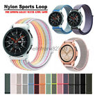 Woven Nylon Sport Loop Wrist Watch Band Strap For Samsung Galaxy Watch 46mm 42mm image