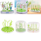 Portable Usefl Baby Bottle Drying Rack with Dust Cover Dryer Holder Tools