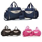 5 Pcs Baby Nappy Diaper Maternity Yummy Mummy Changing Bag Tote Set Wipe Clean
