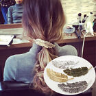 Retro exaggerated metal feather hairpin tree leaf clip spring ponytail clip card