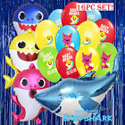 15PC BABY SHARK BALLOONS FAVOR SUPPLIES DECORATION BIRTHDAY PINKFONG BANNER BABY