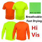 Hi Vis Safety T Shirts High Visibility Breathable Fast Drying Work Sport Wear