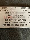 """2 Tickets To """"Bouts On Broad"""" Boxing At The Met Philly 4/26/19"""