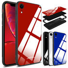 For iPhone XR / XS Max Case Shockproof Slim Armor Tempered Glass Back Hard Cover
