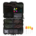 151pcs Fishing Tackle Box Full Loaded Hook,Baiting Needle, Safety Lead Clips