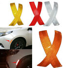 2X Car Bumper Reflective Warning Strip Decal Stickers Auto Accessory 14*2.3cm YX