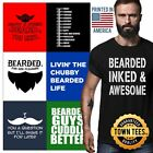Facial Hair Tee Shirt Hipster T-Shirt For Men Dad TShirts Masculine T Shirt Gift