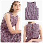 NWT $88 J.CREW Sizes 0 - 12 Sleeveless Tank in Liberty Betsy Ann Floral H4646