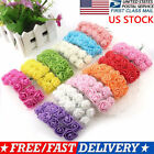 144 Heads Mini Foam Rose Fake Flower Heads Home Wedding Party Decor Bouquet US