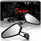 "Universal 7/8"" Handle Bar End Rearview Side Mirrors for Motorcycle Honda Yamaha"