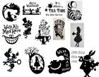 Various Alice In Wonderland Stickers Decal Vinyl For Glass Wall Craft Art Etc
