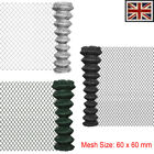 Outdoor Garden Chain Link Fence Fencing Roll Steel 3 Colours Galvanized Wires Uk