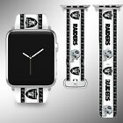 Oakland Raiders Apple Watch Band 38 40 42 44 mm Fabric Leather Strap 2 on eBay