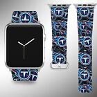 Tennessee Titans Apple Watch Band 38 40 42 44 mm Fabric Leather Strap 1 on eBay