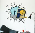 Indiana Pacers Broken Wall Decal NBA Logo Sport Home Wall Hole Room Decor CG1549 on eBay