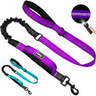 2 Handle Dog Leash Purple Large 4ft No-pull Bungee Leads Heavy Duty Nylon Rope
