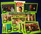 2017 Topps Star Wars Journey to the Last Jedi GREEN Parallel Card YOU PICK-1 image