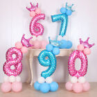 Number Balloons 1/9 Years Happy Birthday Foil Baby Boy Girl Party Decorations 1x